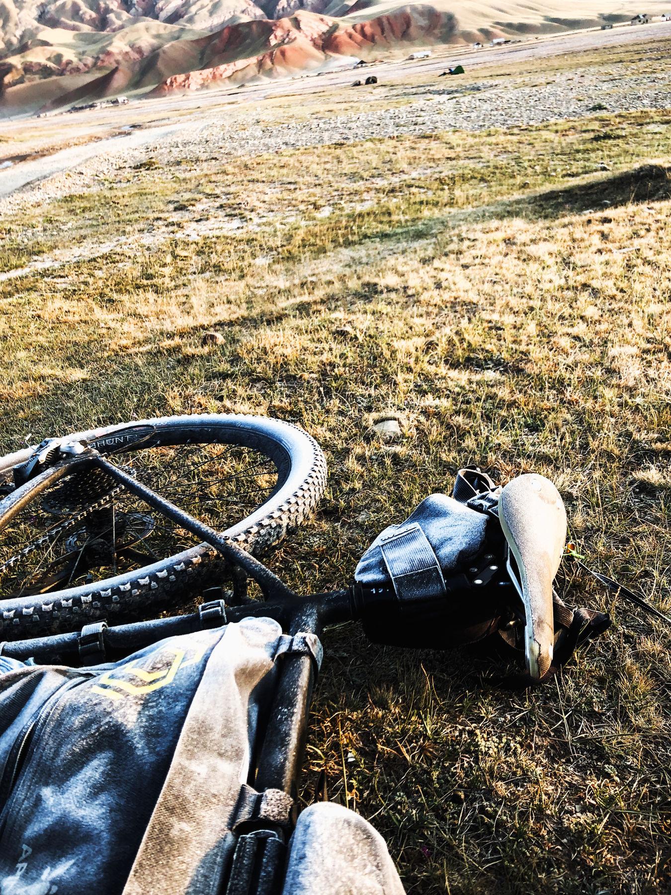 Cold mornings in Kyrgyzstan.
